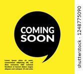 coming soon sign label.coming... | Shutterstock .eps vector #1248775090