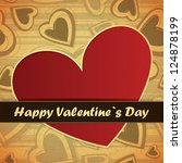 valentine s day card with heart | Shutterstock .eps vector #124878199