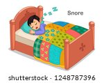 little boy sleeping and snoring ... | Shutterstock .eps vector #1248787396