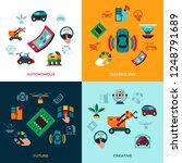 digital vector autonomous... | Shutterstock .eps vector #1248791689