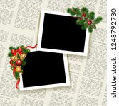 Christmas Photo Frame. Templat...