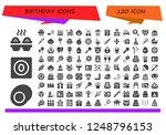 vector icons pack of 120 filled ... | Shutterstock .eps vector #1248796153