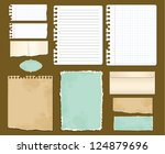 set various colored paper