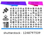 vector icons pack of 120 filled ... | Shutterstock .eps vector #1248797539
