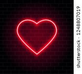 neon heart. bright night neon... | Shutterstock .eps vector #1248807019