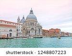 grand canal and basilica santa... | Shutterstock . vector #1248807223