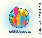 international human rights day... | Shutterstock .eps vector #1248808900