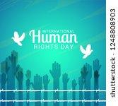 international human rights day... | Shutterstock .eps vector #1248808903
