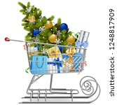 vector shopping sled with... | Shutterstock .eps vector #1248817909