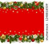 vector pine christmas... | Shutterstock .eps vector #1248818509