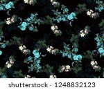 seamless random layer flowers... | Shutterstock . vector #1248832123