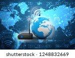3d rendering transmitter wifi | Shutterstock . vector #1248832669