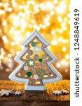 cheerful little christmas tree... | Shutterstock . vector #1248849619