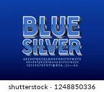 vector elegant 3d font. set of... | Shutterstock .eps vector #1248850336