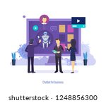 chatbot for business. virtual... | Shutterstock .eps vector #1248856300