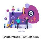 creativity of people. creative...   Shutterstock .eps vector #1248856309