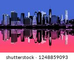 Abstract Image Of Manhattan....