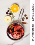 mulled wine hot drink with...   Shutterstock . vector #1248863380