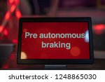 pre autonomous braking text on... | Shutterstock . vector #1248865030