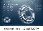 futuristic future circle on a...