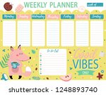 weekly planner and to do list... | Shutterstock .eps vector #1248893740