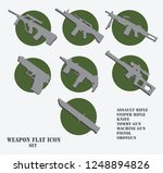 weapon flat icon set gray and... | Shutterstock .eps vector #1248894826