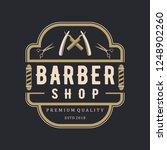 barber shop vintage logo | Shutterstock .eps vector #1248902260