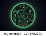 gps technology map concept. pin ... | Shutterstock .eps vector #1248903970
