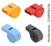 whistle icon set. isometric set ... | Shutterstock .eps vector #1248906106