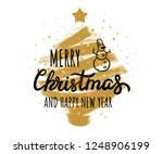 merry christmas and happy new... | Shutterstock .eps vector #1248906199