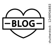 like heart blog icon. outline...