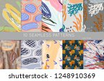 collection of seamless patterns.... | Shutterstock .eps vector #1248910369