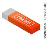 eraser icon. isometric of...   Shutterstock .eps vector #1248911080