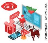 winter final sale concept... | Shutterstock .eps vector #1248912256