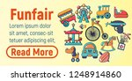 funfair concept banner. cartoon ... | Shutterstock .eps vector #1248914860