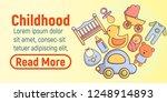 childhood concept banner.... | Shutterstock .eps vector #1248914893