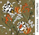 modern animal skin prints.... | Shutterstock .eps vector #1248917860