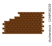 destroyed brick wall icon. flat ... | Shutterstock .eps vector #1248918220