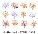 cute and elegant vector floral... | Shutterstock .eps vector #1248918583
