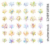 cute and elegant vector floral... | Shutterstock .eps vector #1248918586