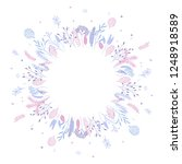 cute and elegant vector floral... | Shutterstock .eps vector #1248918589
