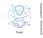 trust concept icon. defence ... | Shutterstock .eps vector #1248933043