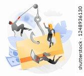 credit card phishing attack...   Shutterstock .eps vector #1248936130