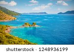 sunny morning view of small... | Shutterstock . vector #1248936199