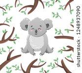 vector cartoon koala among the... | Shutterstock .eps vector #1248937090