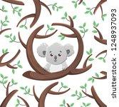 vector cartoon koala among the... | Shutterstock .eps vector #1248937093