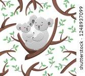 vector cartoon koalas among the ... | Shutterstock .eps vector #1248937099
