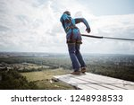 rope jumping is an extreme...   Shutterstock . vector #1248938533