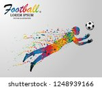 visual drawing soccer sport at... | Shutterstock .eps vector #1248939166