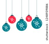 christmas balls decorations... | Shutterstock .eps vector #1248939886